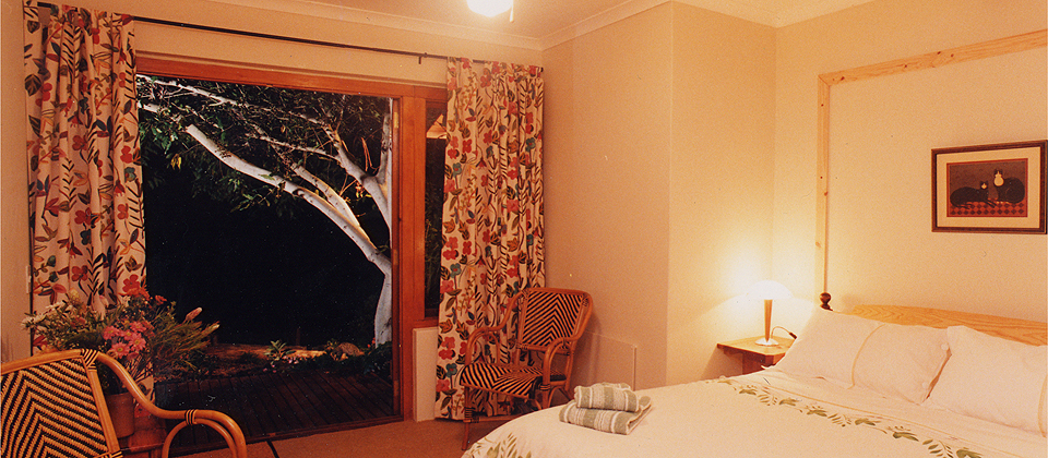 A bedroom at Zauberberg Cottage