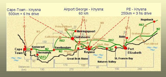 Knysna Fire Map.Zauberberg Cottage Directions Knysna Map Zauberberg Cottage