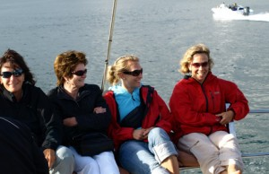 Sailing on the Knysna lagoon